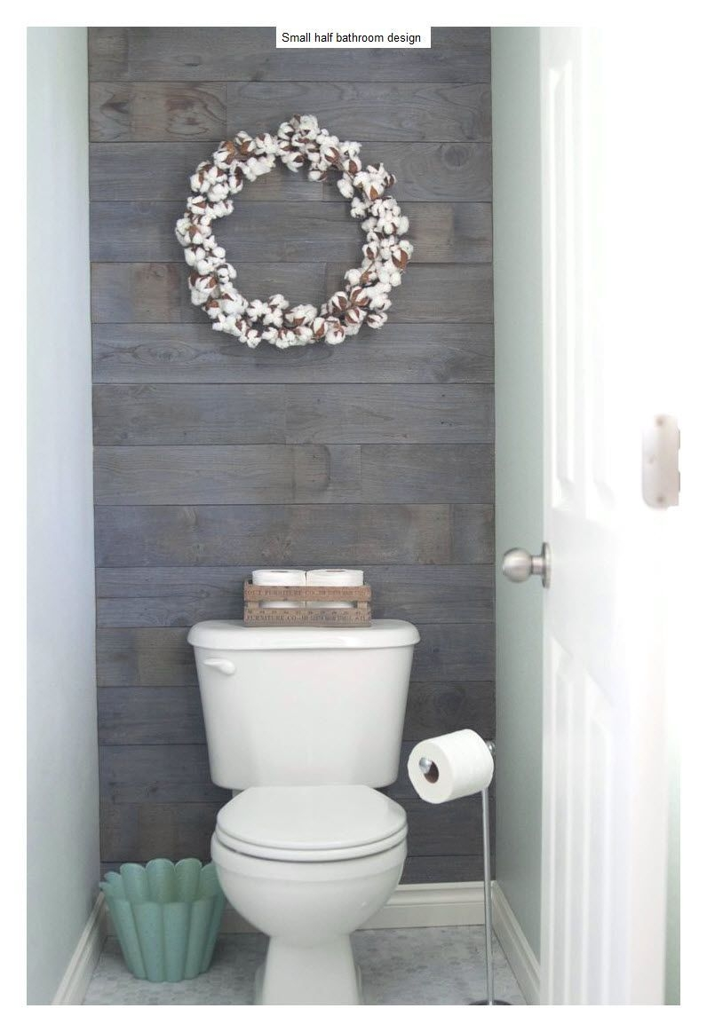 10 Beautiful Half Bathroom Ideas For Your Home  Half Bath Remodel Plank Walls Downstairs