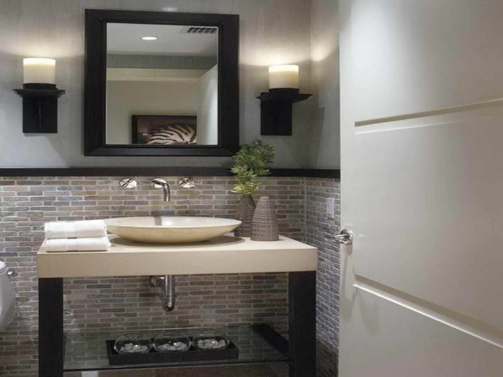 12 Modern Half Bath Designs Fashionable As Well As Beautiful  Diyhous