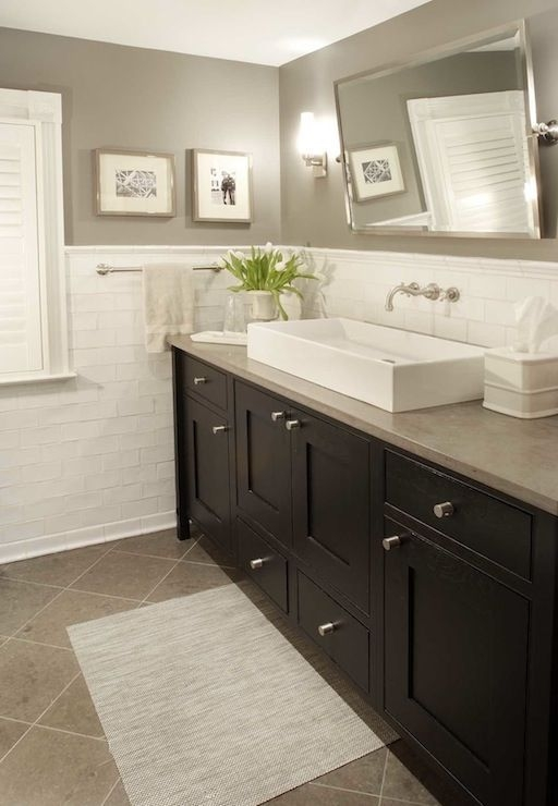 20 Wonderful Grey Bathroom Ideas With Furniture To Insipire You  Traditional Bathroom Bathroom