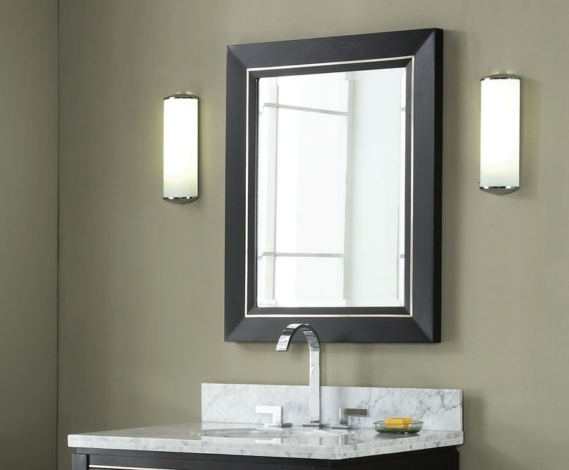 "24"" Contemporary Bathroom Vanity  Black Finish"