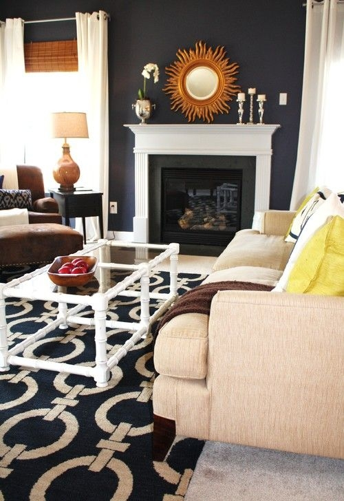 27 Navy Living Room Design Ideas  Decoration Love