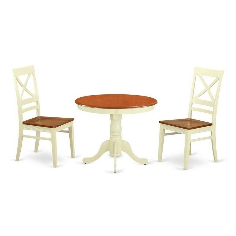 3 Pc Kitchen Nook Dining Set For 2Kitchen Dinette Table And 2 Dining Chairs New 682962642773  Ebay