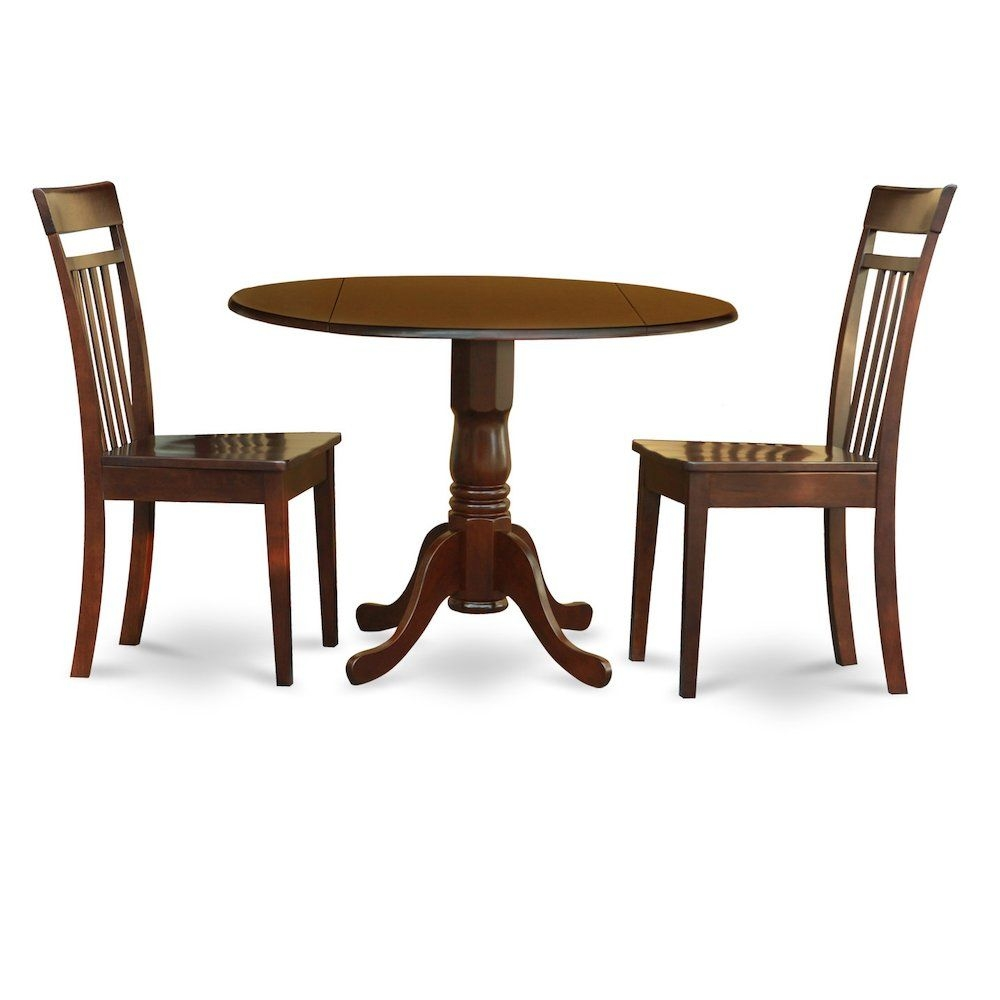 3 Pc Kitchen Nook Dining Setsmall Table And 2 Dining Chairs  Ebay