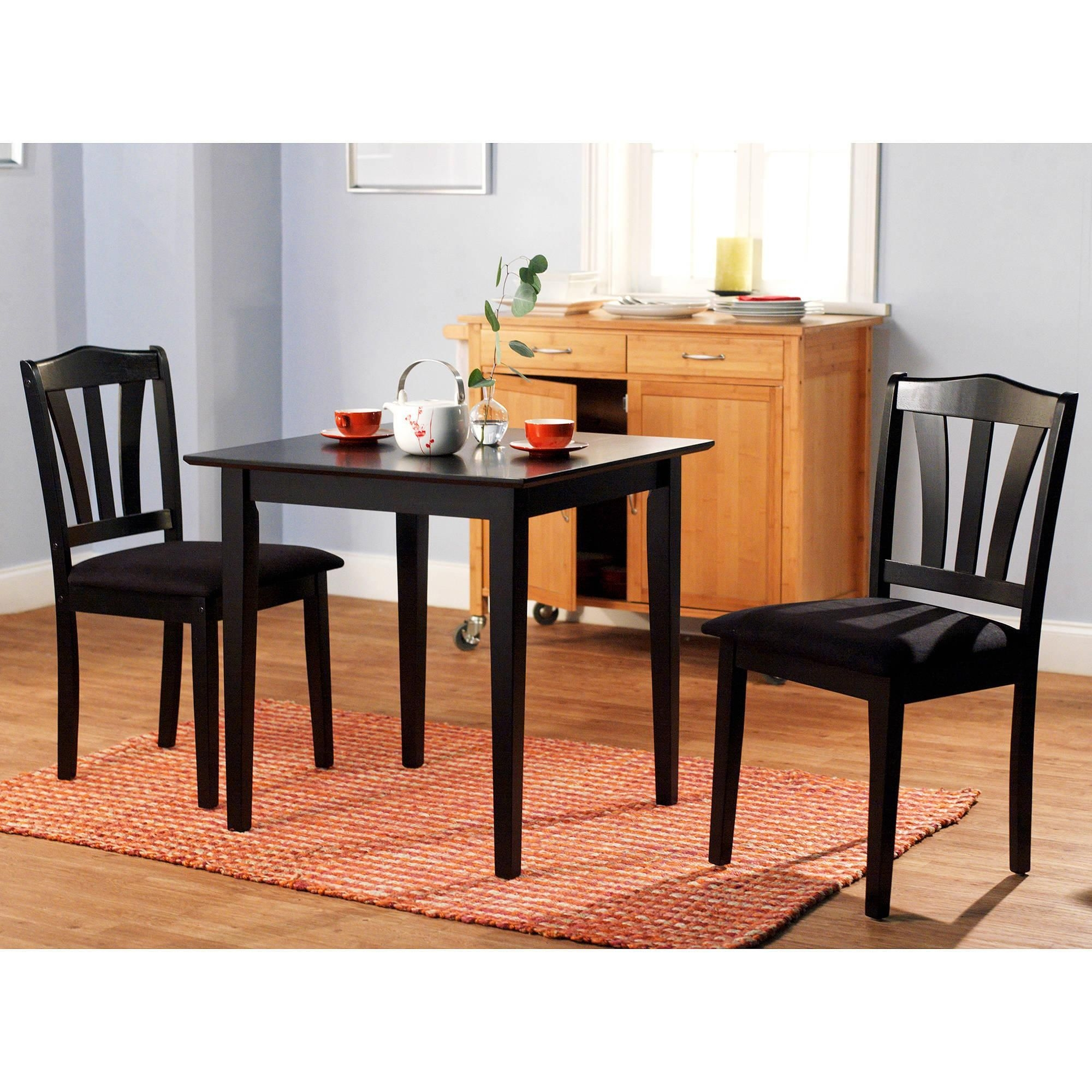 3 Piece Dining Set Table 2 Chairs Kitchen Room Wood Furniture Dinette Modern New 24319101029  Ebay