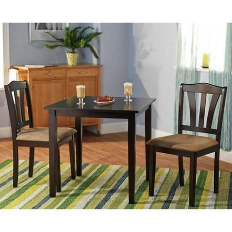 3 Piece Dining Set Table 2 Chairs Kitchen Room Wood Furniture Dinette Modern New  Ebay