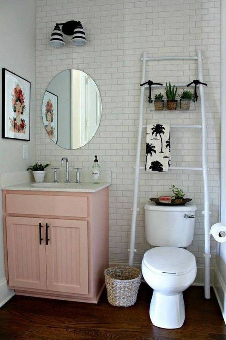 33 Best Small Bathroom Decor Ideas  Cute Bathroom Ideas Diy Bathroom Decor First Apartment