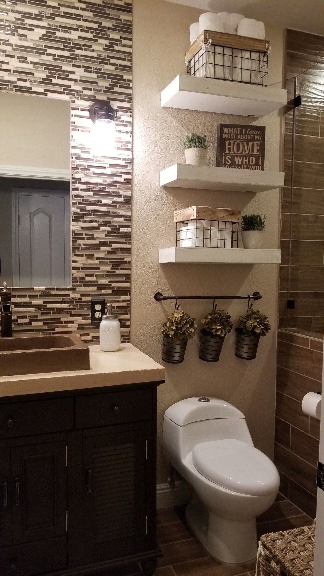 36 Beautiful Farmhouse Bathroom Decor Ideas You Will Go Crazy For  Small Bathroom