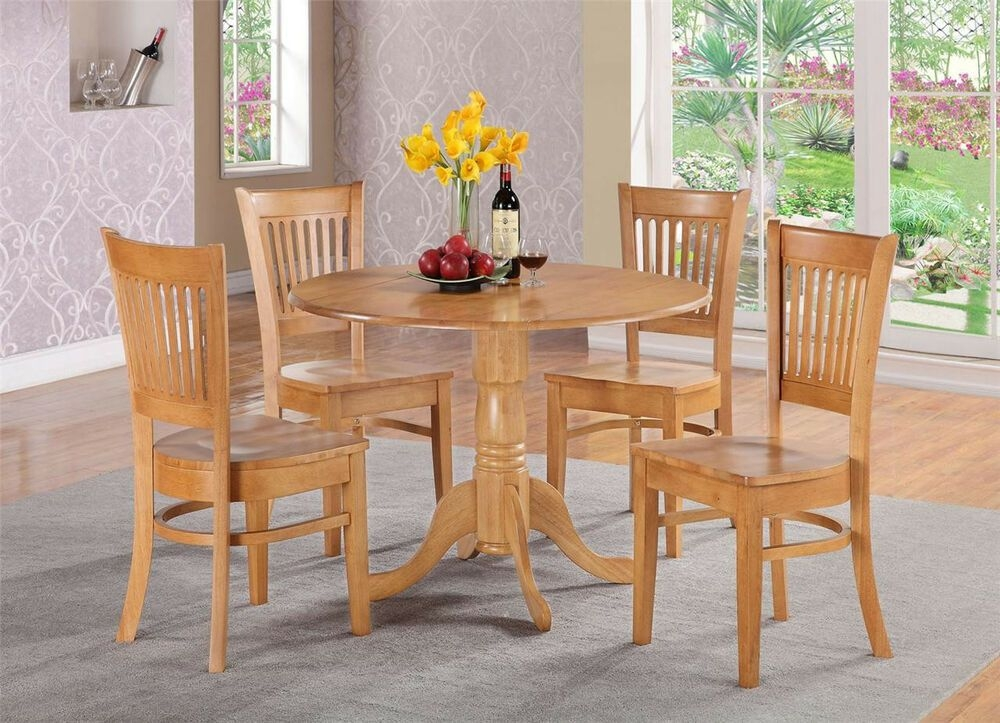 3Pc Dinette Kitchen Dining Set Table With 2 Plain Wood Seat Chairs In Light Oak  Ebay