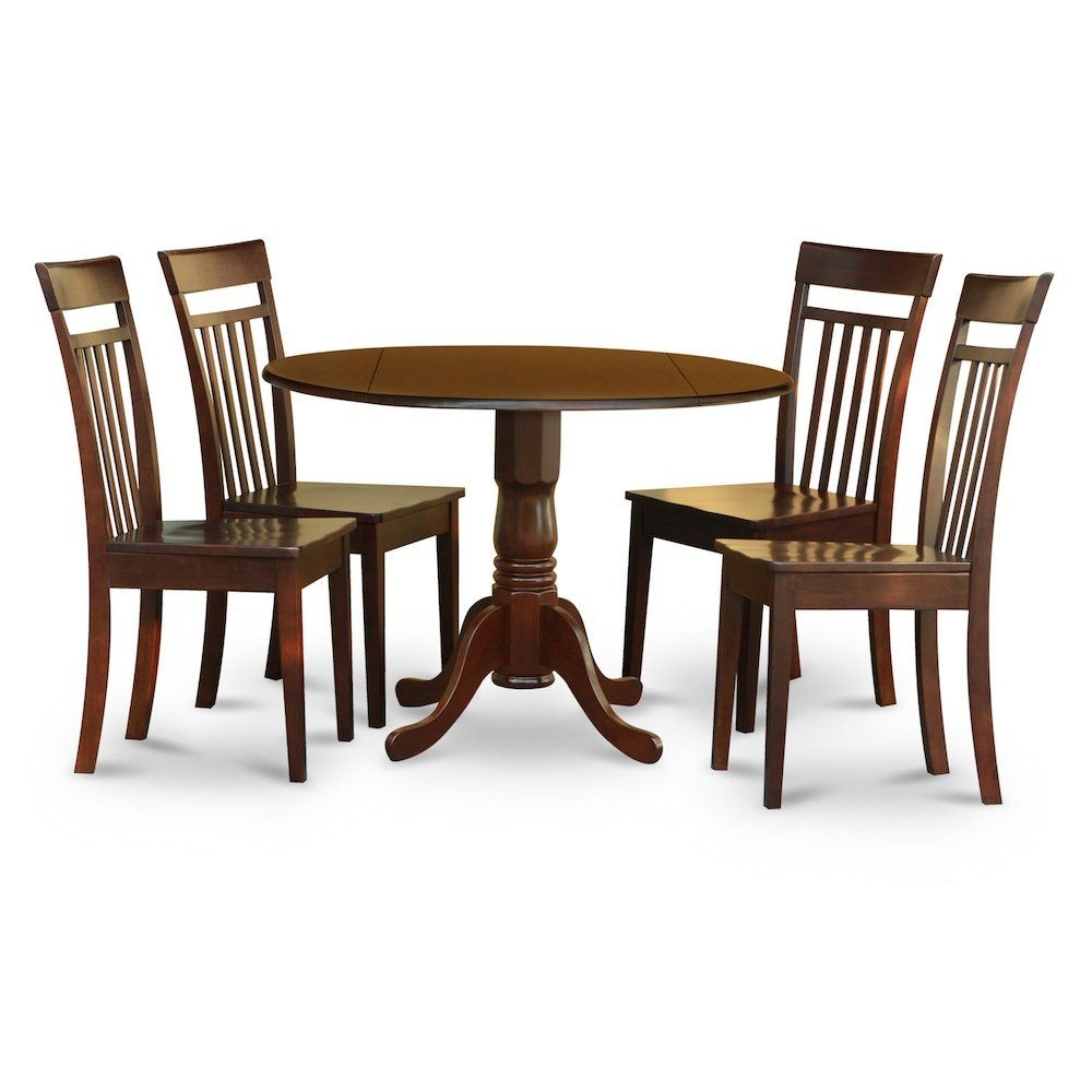 5 Pc Kitchen Nook Dining Setsmall Table And 4 Dining Chairs 840017307217  Ebay
