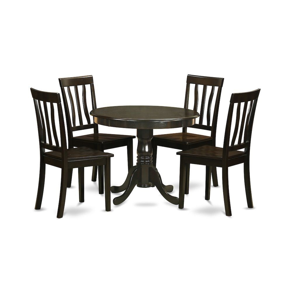 5 Pc Small Kitchen Table Setbreakfast Nook Plus 4 Dining Chairs 840017304636  Ebay