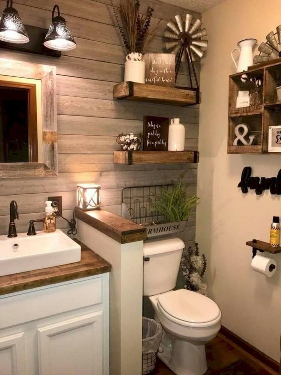 50 Stunning Rustic Farmhouse Bathroom Decorating Ideas 9  Remodelación De Baños Decoracion De