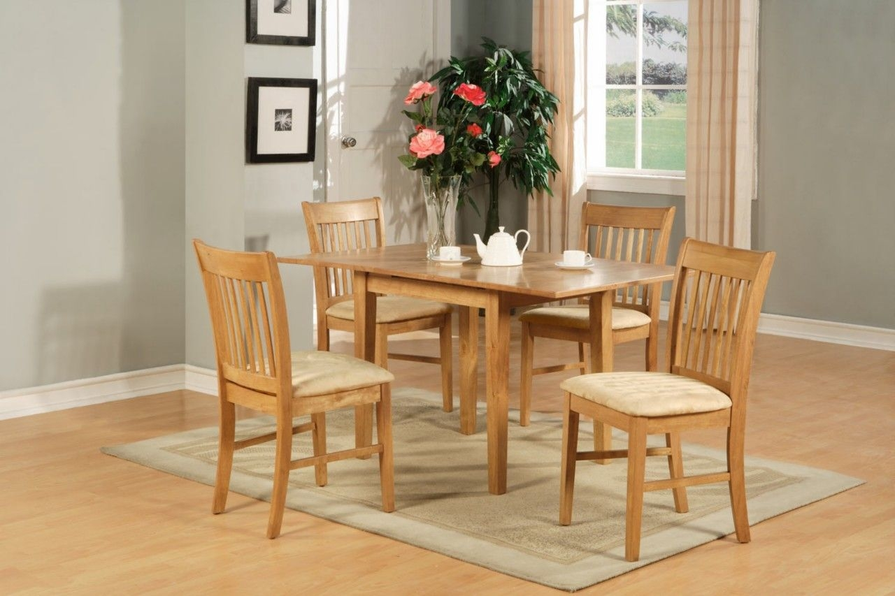 5Pc Rectangular Kitchen Dinette Table Set 4 Chairs Oak  Ebay