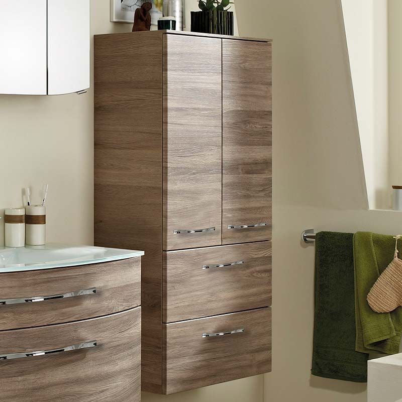 6001 Solitaire Wall Hung Double Tall Boy Bathroom Storage 2 Door 2 Drawer Buy Online At Bathroom