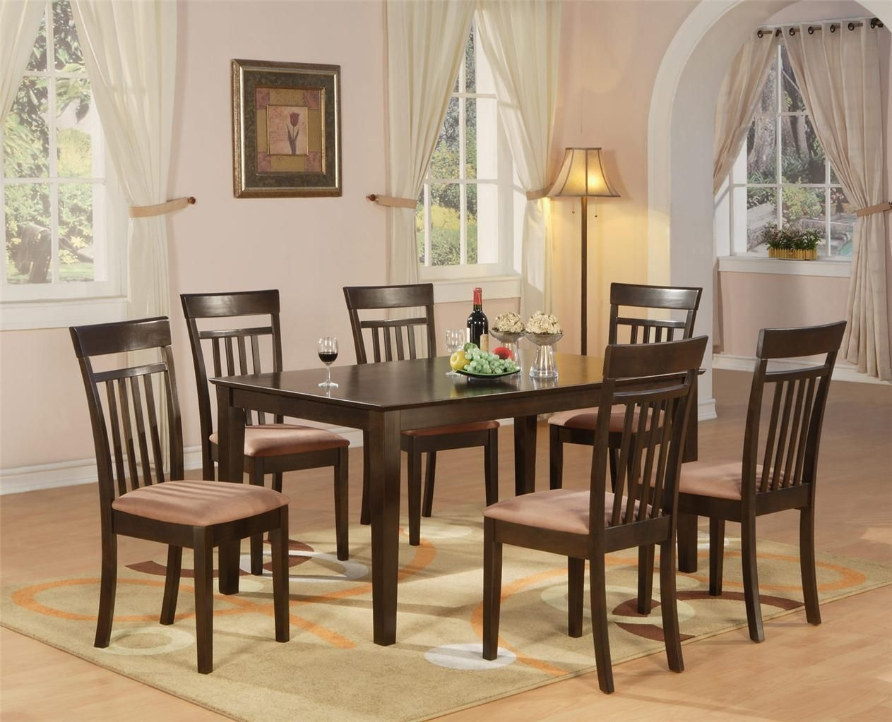 7 Pc Dining Room Dinette Kitchen Set Table And 6 Chairs  Ebay