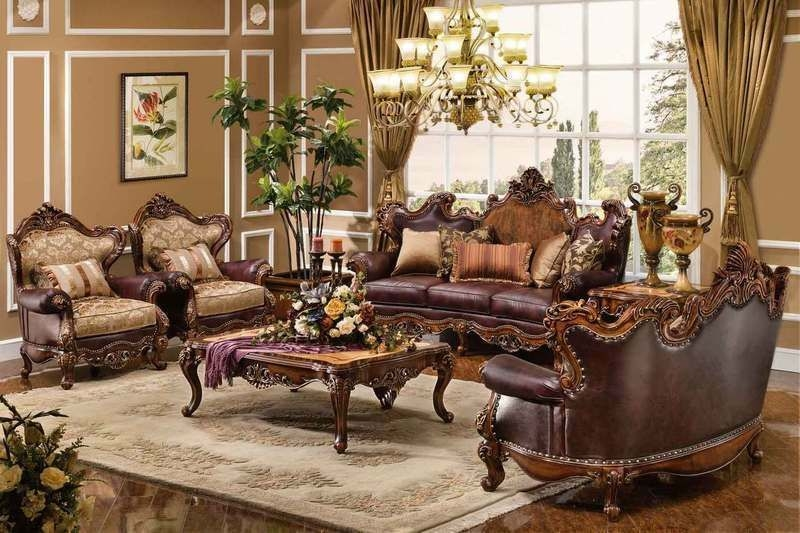 7Pc Normandy Antique Cherry Traditional Living Room Set  Ebay