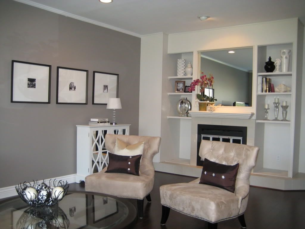 After2 Living Room The Wall Color Is Benjamin Moore'S Escarpment A Very Moody And Warm