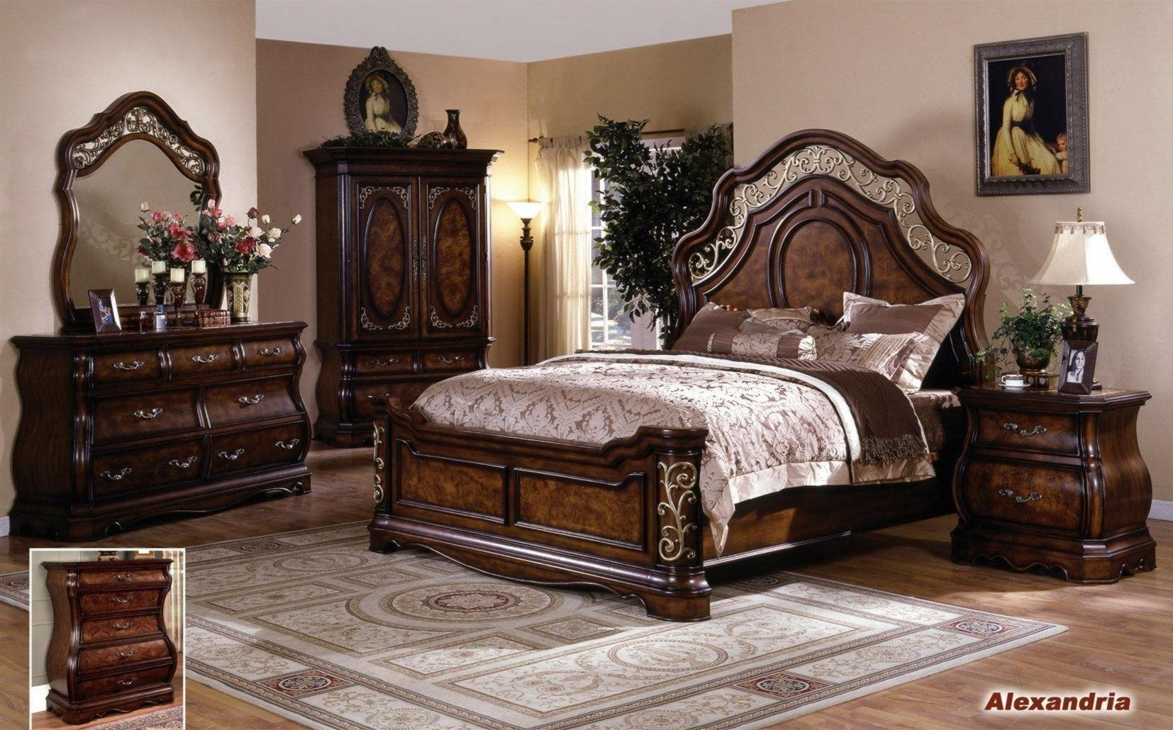 Alexandria Elegant Solid Wood Traditional Bedroom Setempire Furniture Design  Wood Bedroom