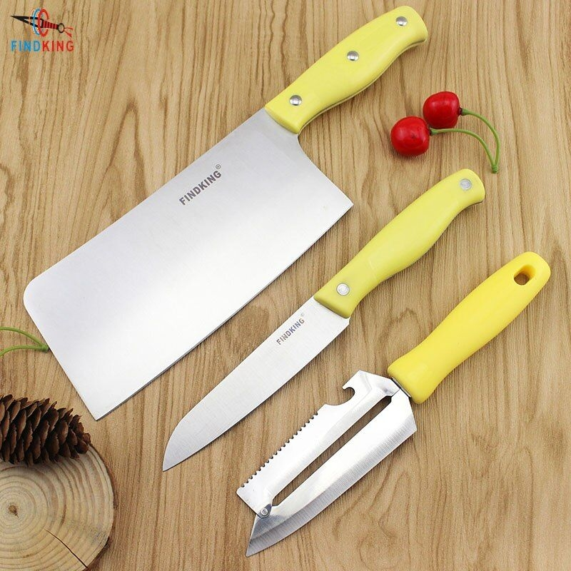Aliexpress  Buy Findking 3 Pcs In One Set High Quality Stainless Steel Kitchen Knife Set