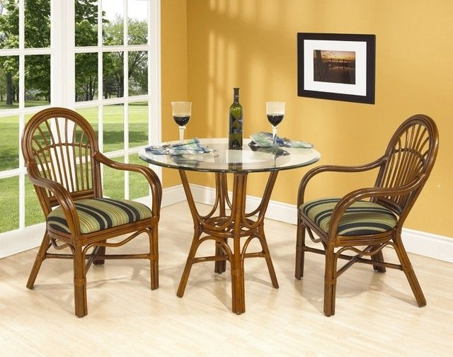 Amarillo Rattan Cafe Table Set In Urban Mahog  Contemporary  Dining Sets Shopladder