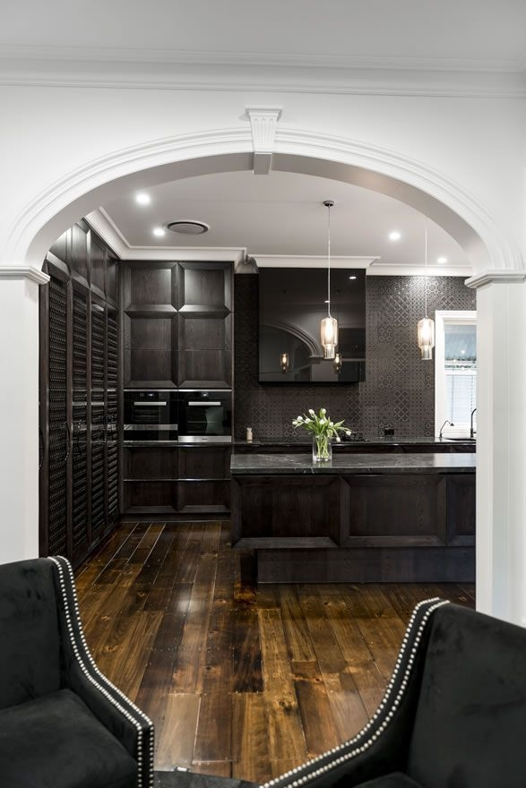 Auchenflower Residence Project Black Kitchens New Homes Archway
