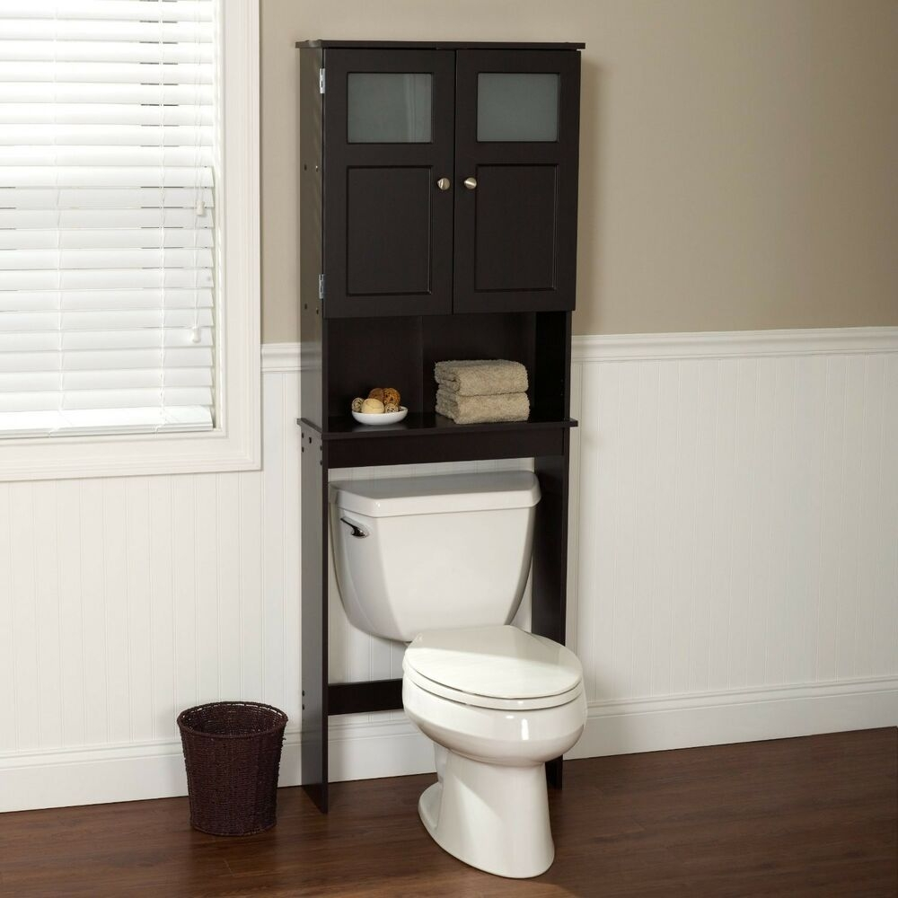 Bathroom Cabinet Storage Over Toilet Space Saver Stand Shelf Organizer Rack Tall  Ebay