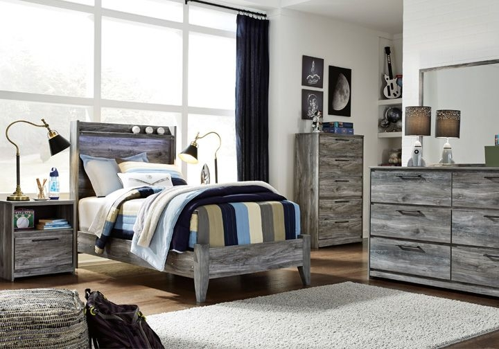 Baystorm Gray Twin Panel Bedroom Set  Lexington Overstock Warehouse