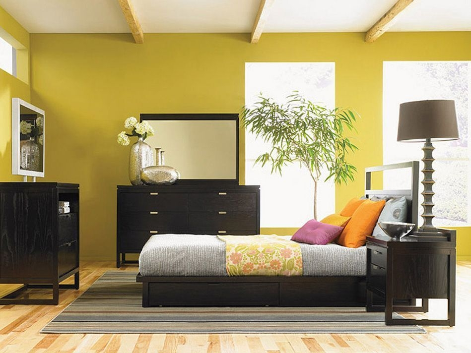 Beautiful Yellow Modern Furniture Asian Contemporary Bedroom Furniture From …  Contemporary