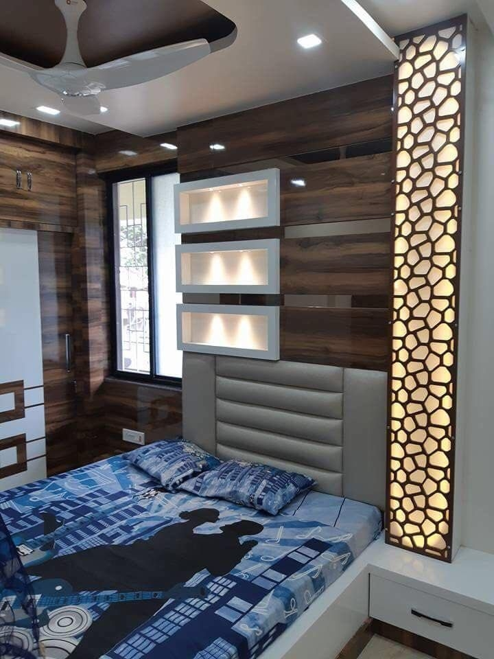 Bed Wall Paneling  Ceiling Design Bedroom Luxurious Bedrooms Modern Bedroom Interior