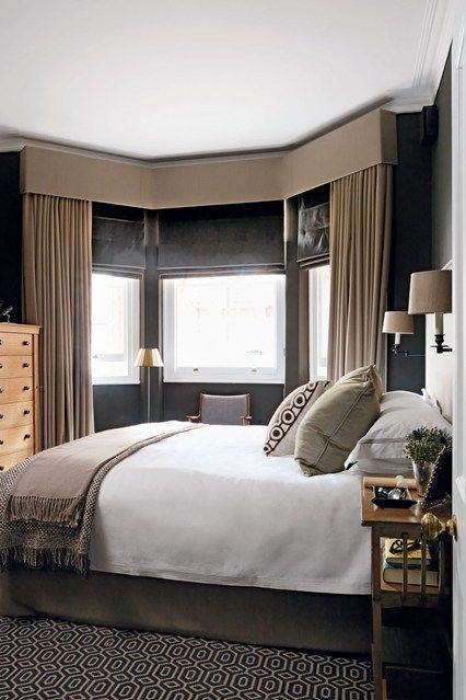 Bedroom Ideas  Living Room Windows Bay Window Curtains Bay Window Curtain Inspiration