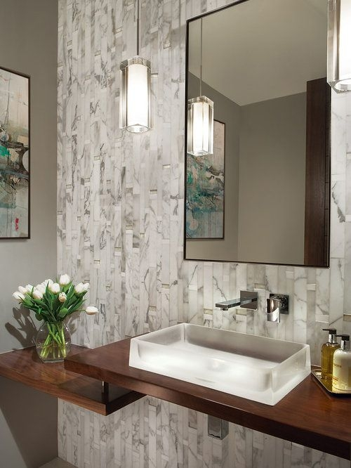 Best Contemporary Powder Room Design Ideas  Remodel Pictures  Houzz