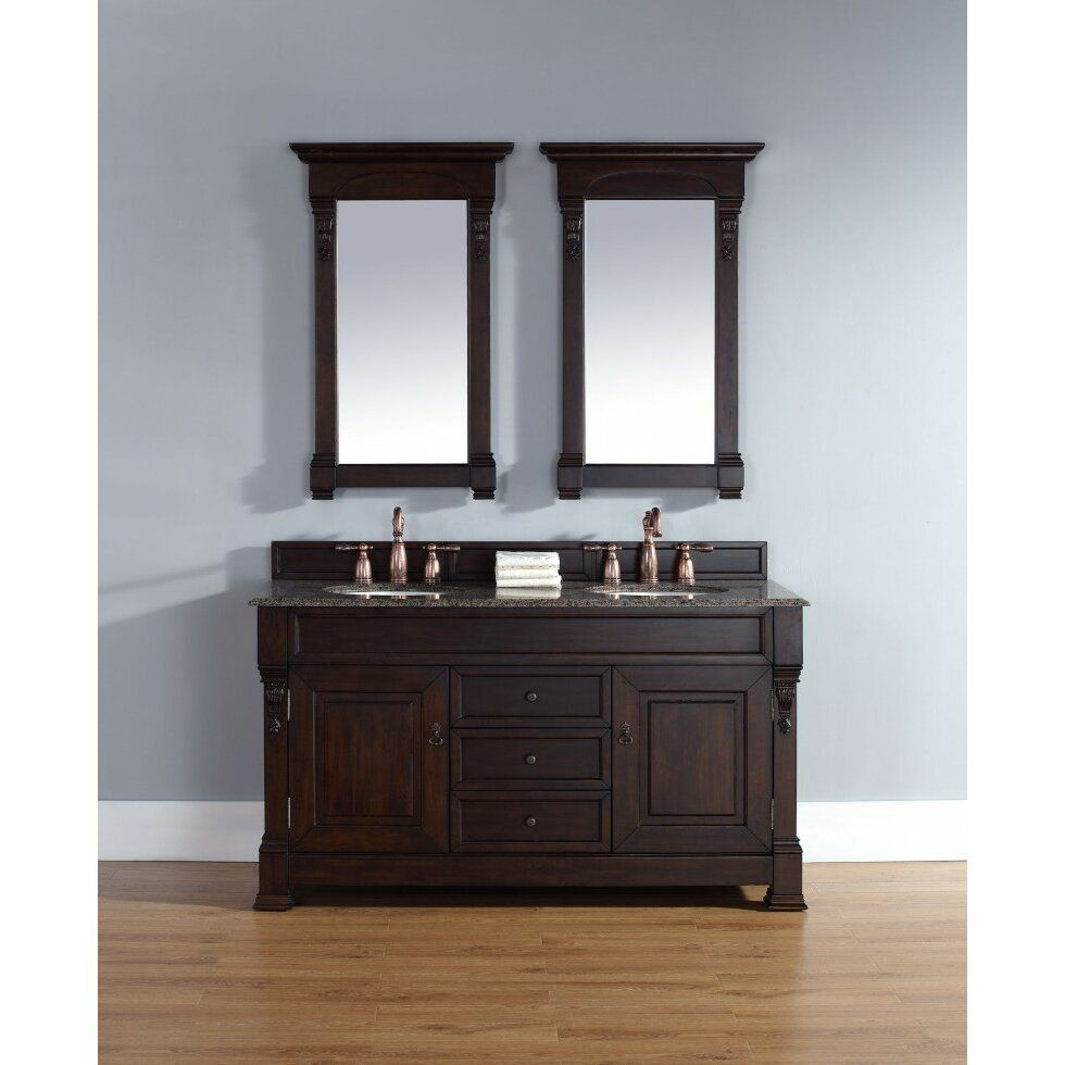"Brookfield 60"" Double Bathroom Vanity Base  Wayfair"