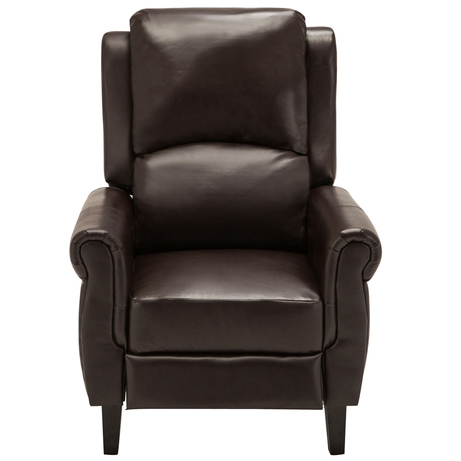 Brown Leather Recliner Armchair Accent Chair Wleg Rest Living Room Furniture  Ebay