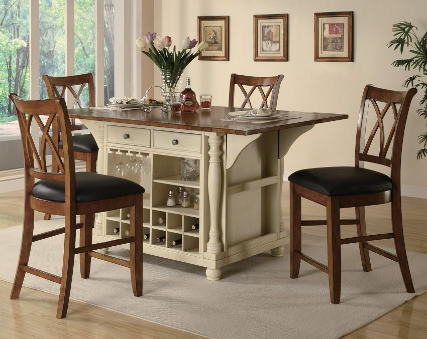 Buttermilk Collection 102271 Counter Height Dining Table Set
