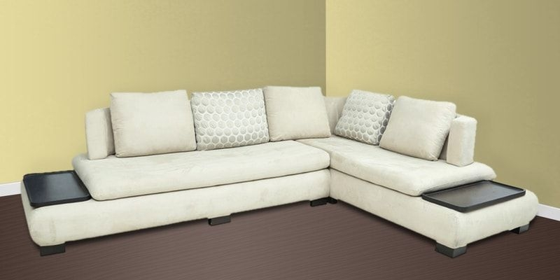 Buy L Shape Sectional Corner Sofa With Right Lounger In Off White Colourstar India Online