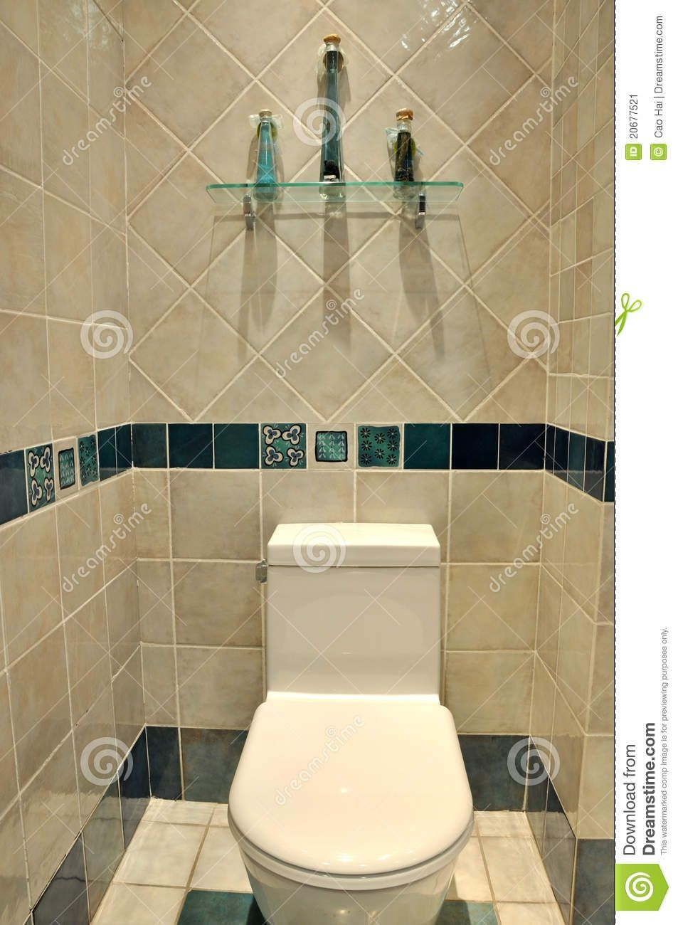 Clean Toilet Interior Stock Image  Image 20677521