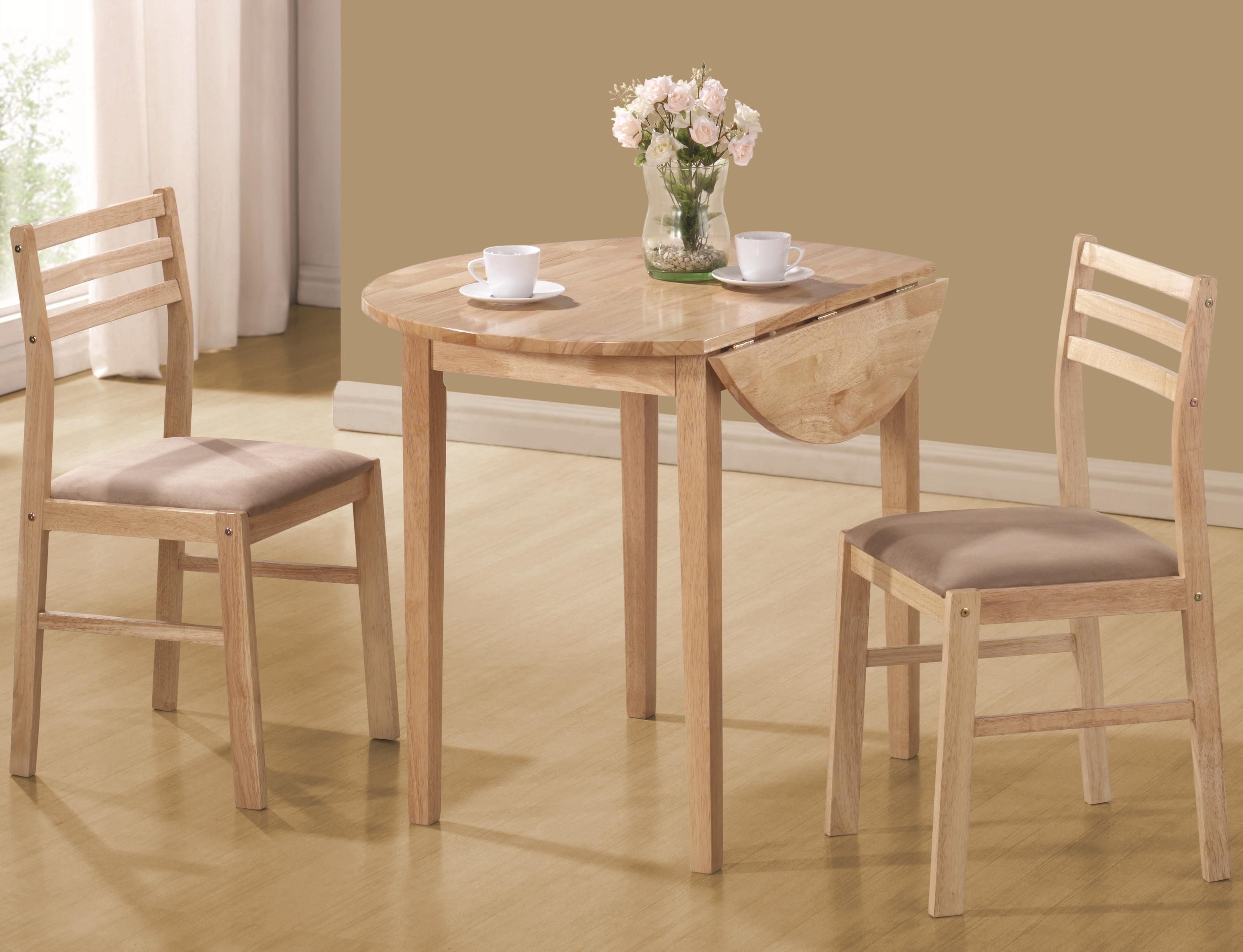 Coaster Dinettes Casual 3 Piece Table  Chair Set  Value City Furniture  Dining 3Piece Sets