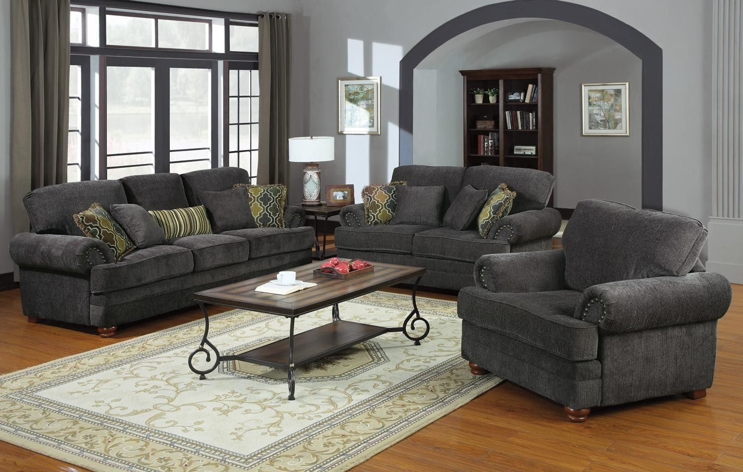 Colton Grey Living Room Set From Coaster 504401  Coleman Furniture