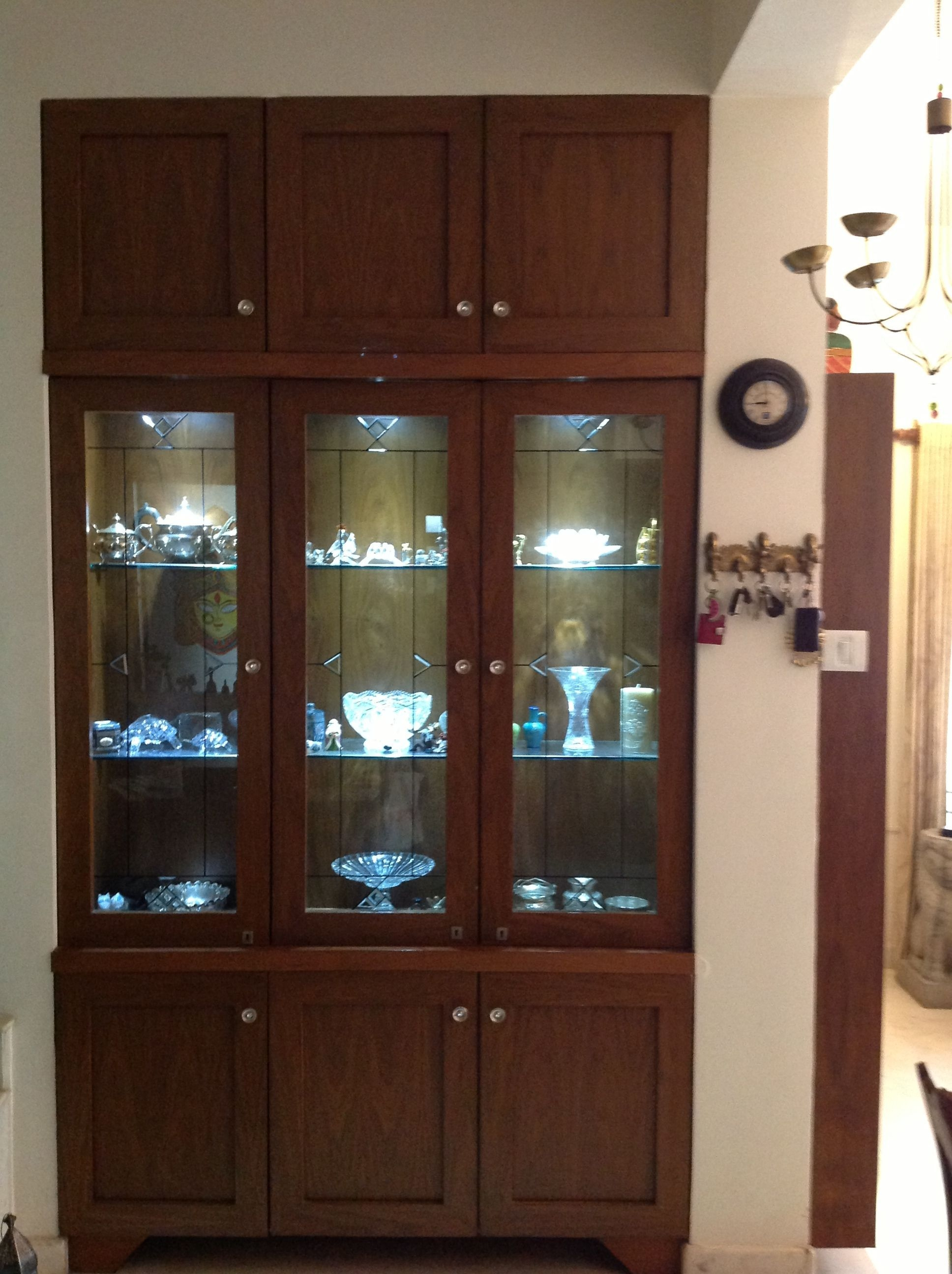 Crockery Unit Made To Order In A Niche That Existed Along With Space To Display Curios  Indian