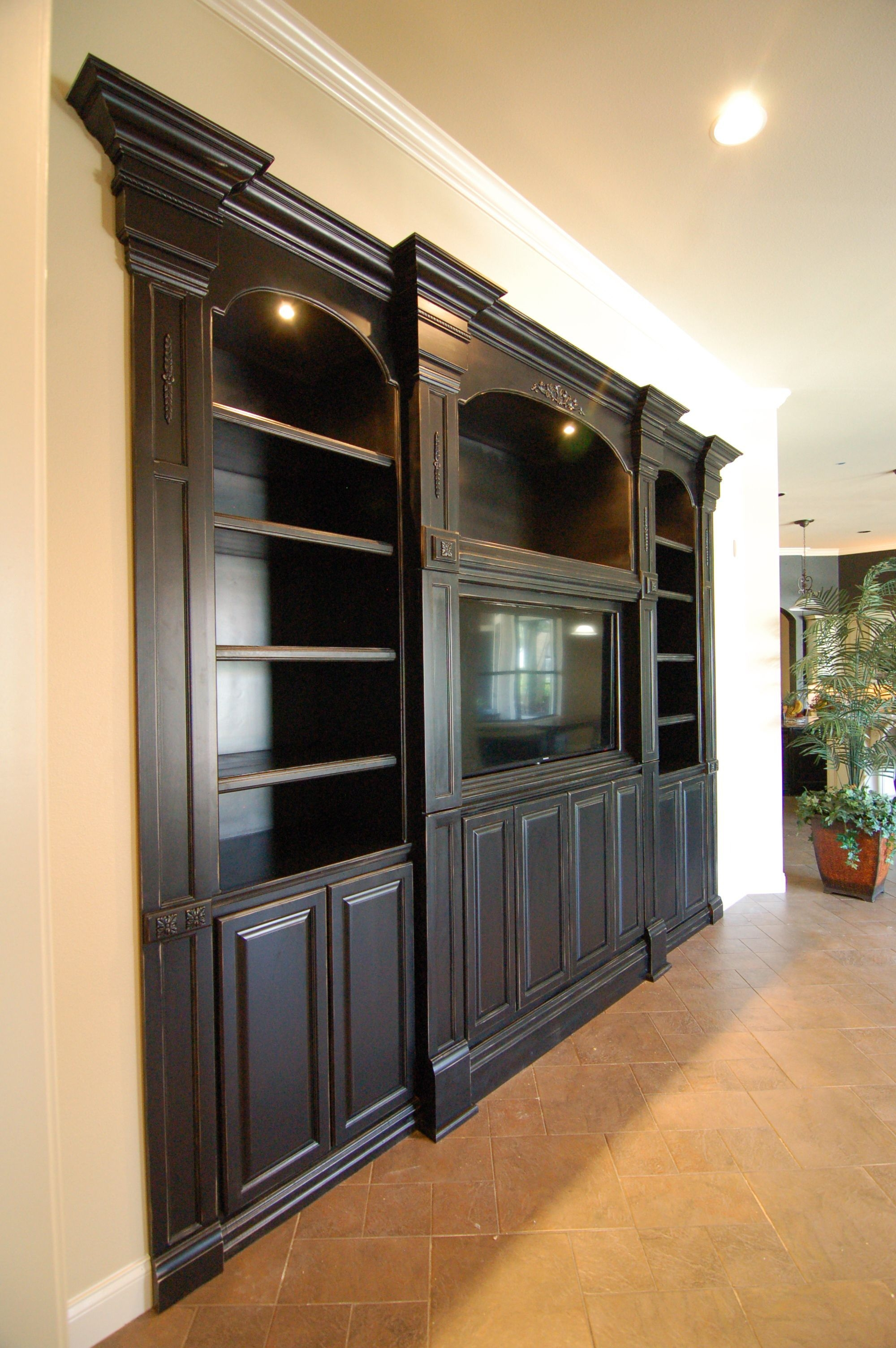 Custom Built Entertainment Center  Built In Entertainment Center Custom Built Entertainment