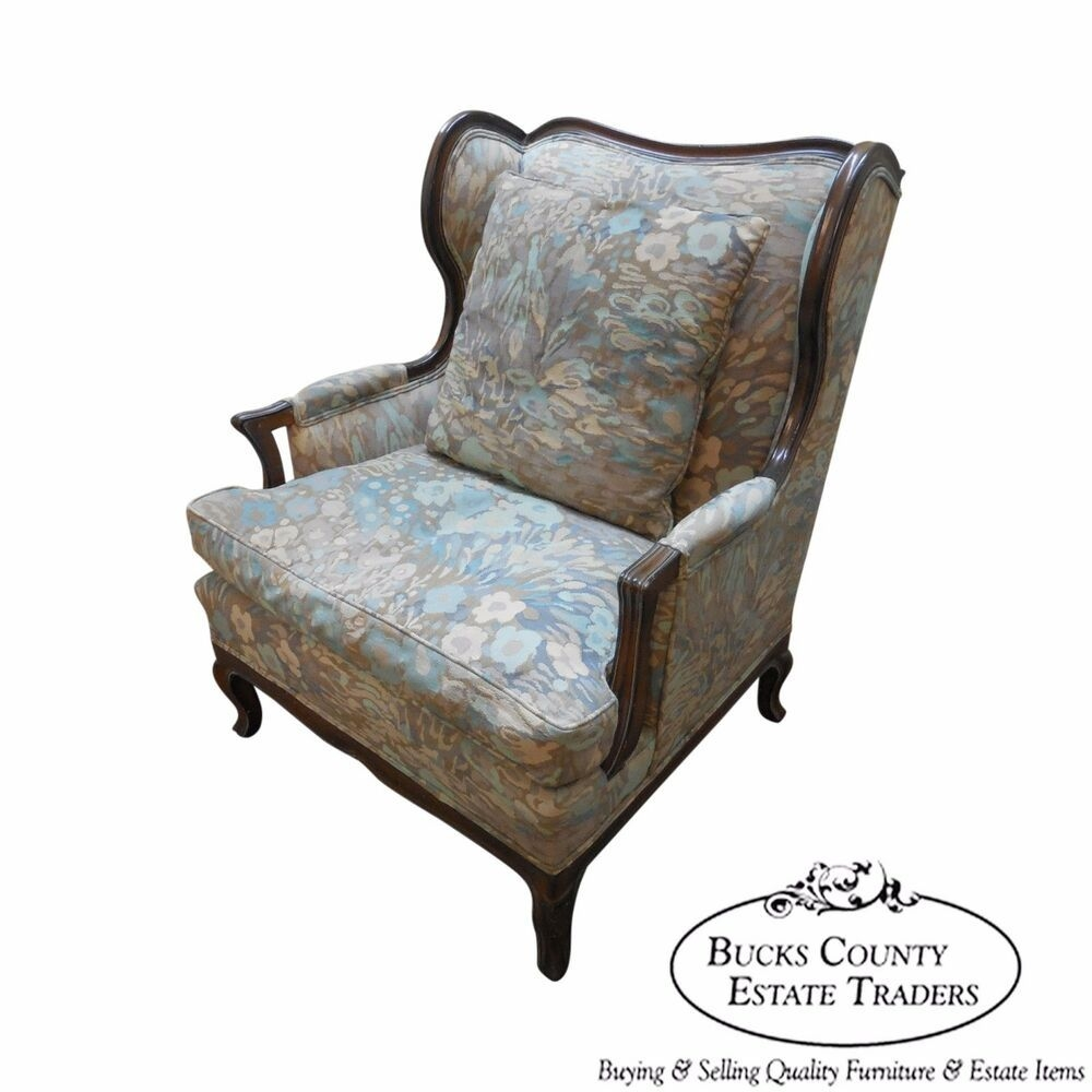 Custom French Louis Xv Style Oversized Wing Back Bergere Living Room Chair  Ebay