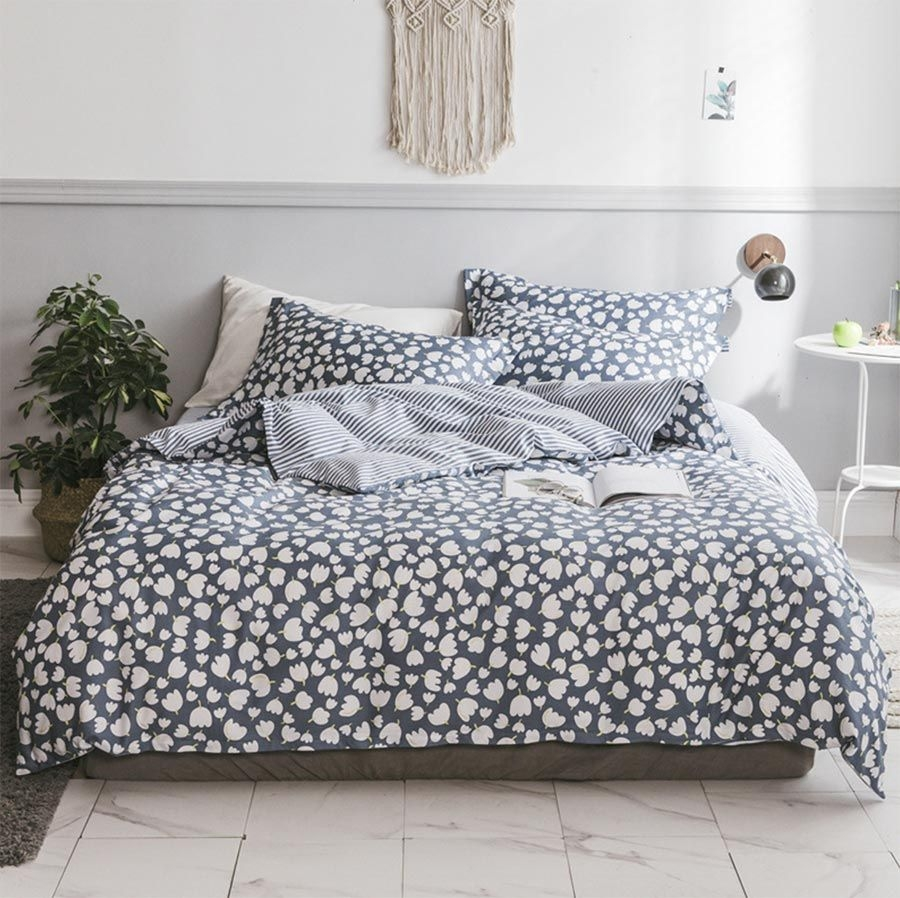 Cute Pastoral Plant Single Double Bedding Set Adulttwin Full Queen King Cotton Home Textile