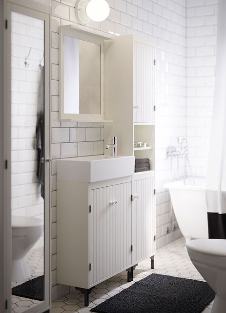 Cute Pinterest White Ikea Bathroom