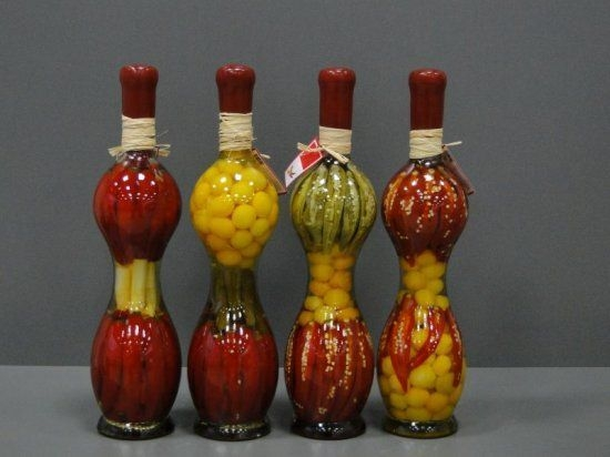 Decorative Bottle With Vegetables For The Kitchen Decor  Vegetable Decoration Kitchen Decor
