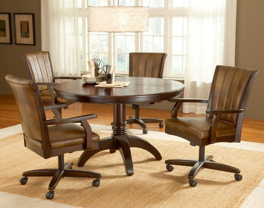 Dining Chairs With Casters Swivel Enter Home  Round