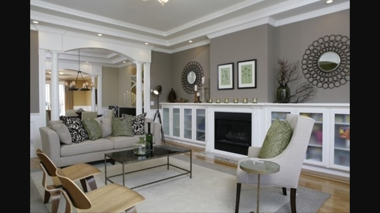 Dorian Gray Paint Color With White Trim  Living Room Colors Contemporary Living Room