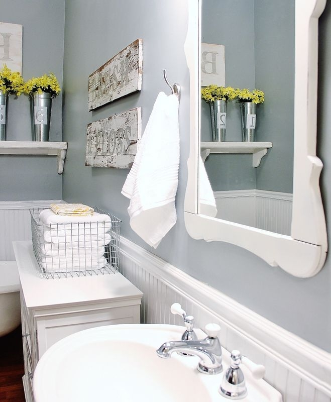 Farmhouse Bathroom Decorating Ideas  Thistlewood Farms