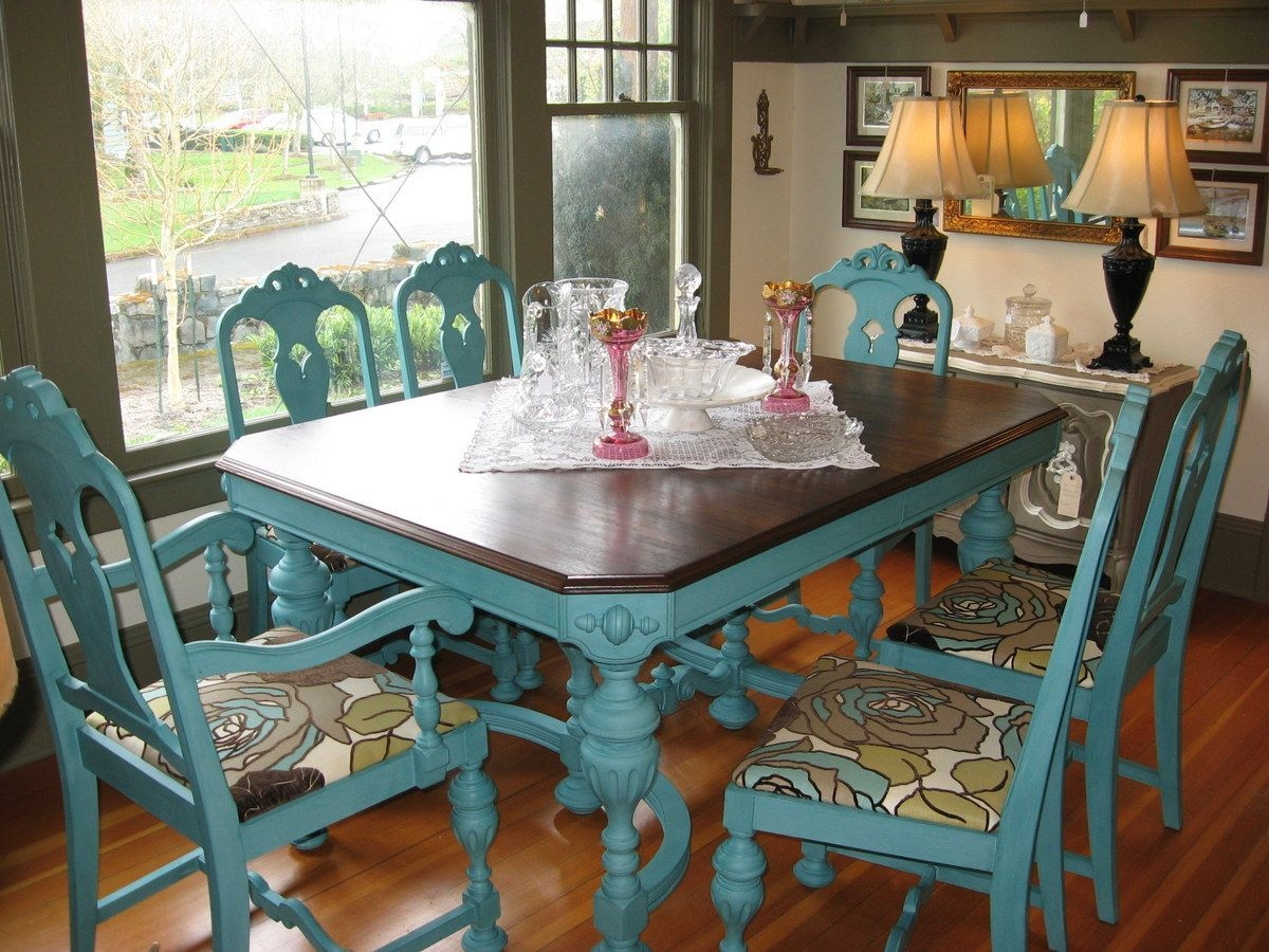 Great Idea To Give An Old Kitchen Table Or Chairs A New Look  Kitchen Table Redo Old Kitchen