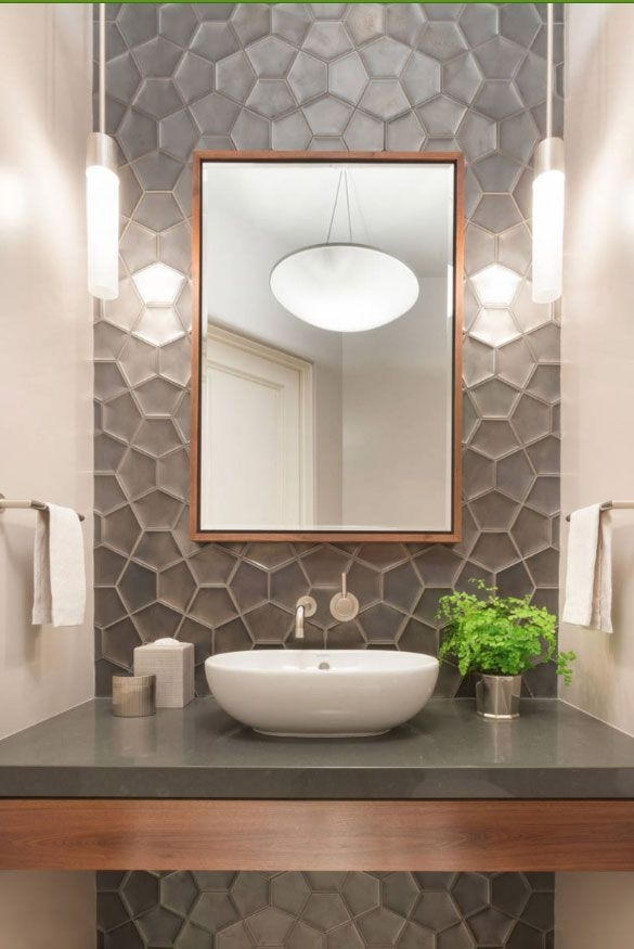 Half Bathroom Tile Ideas  Home Sweet Home  Modern Livingroom
