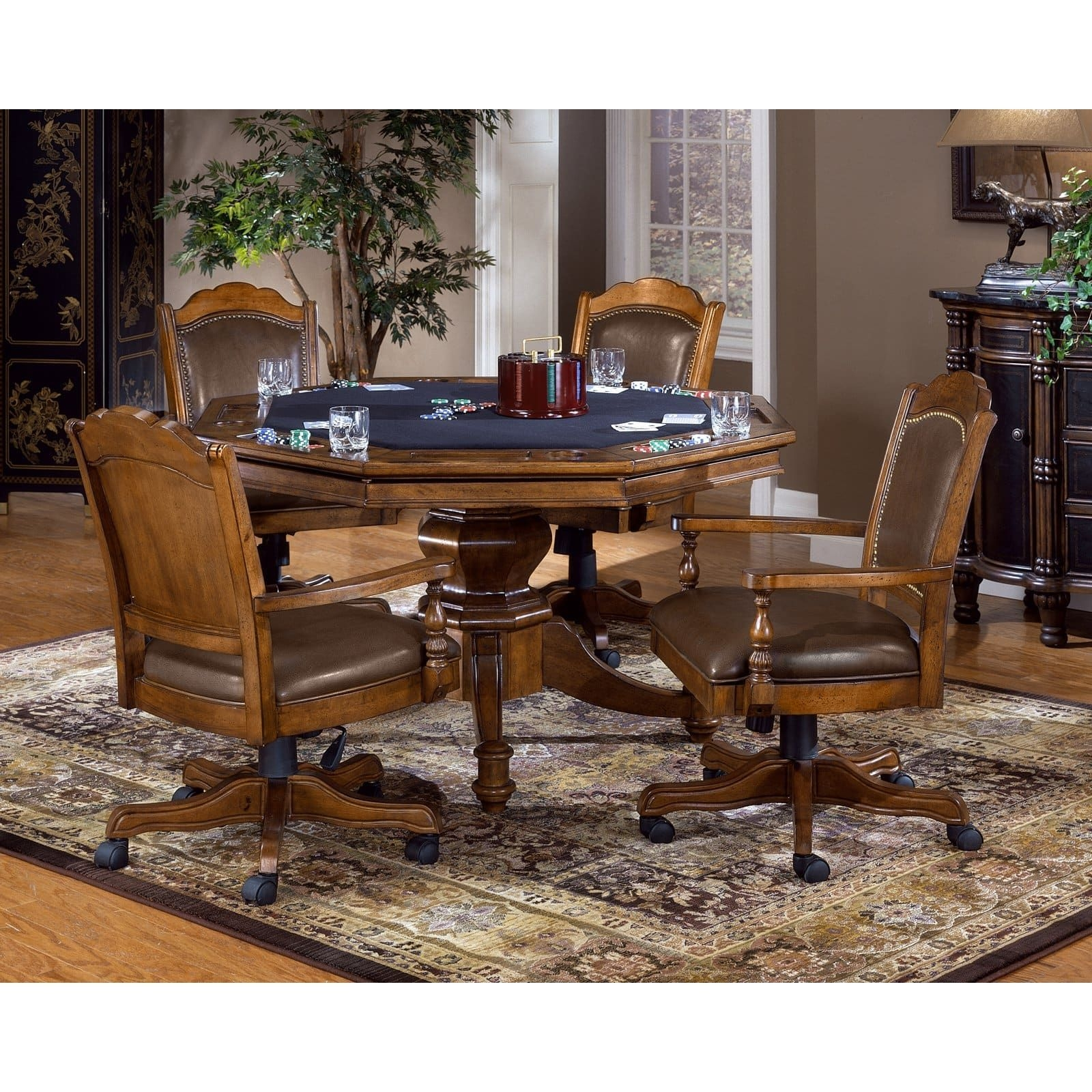 Hillsdale Nassau 5 Piece Game Table Set  Poker Tables At Hayneedle