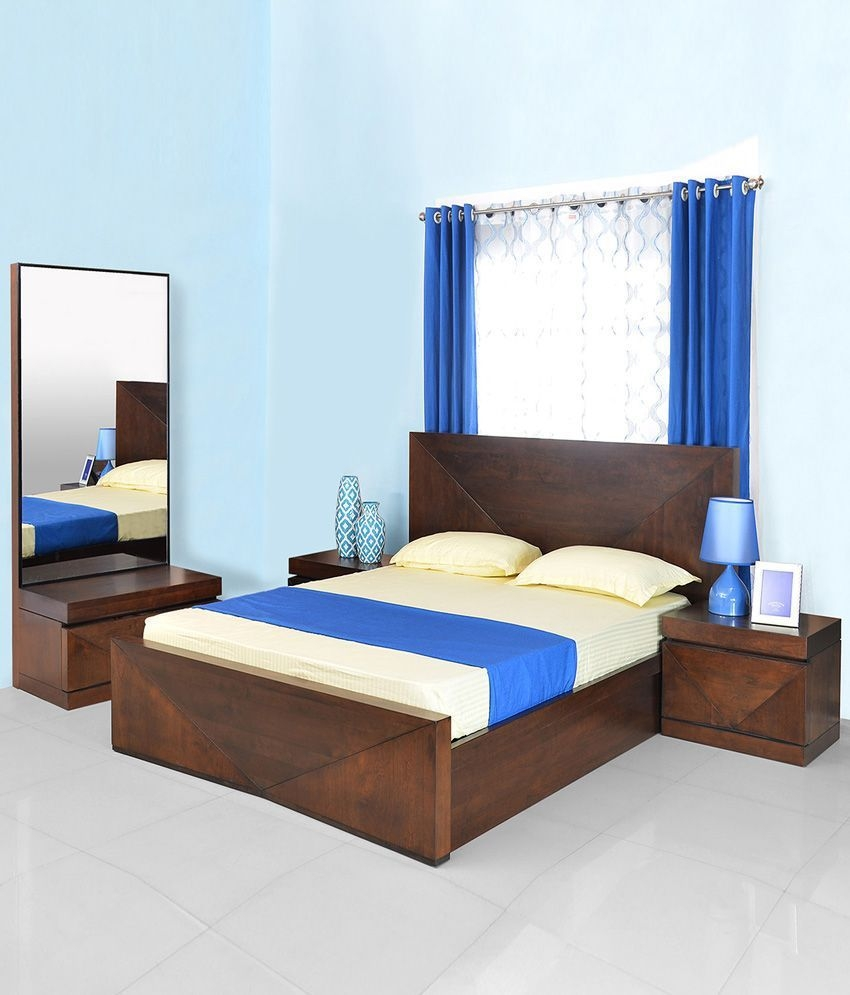 Home Nixon Solid Wood Storage King Size Bedroom Set  Buy Home Nixon Solid Wood Storage King